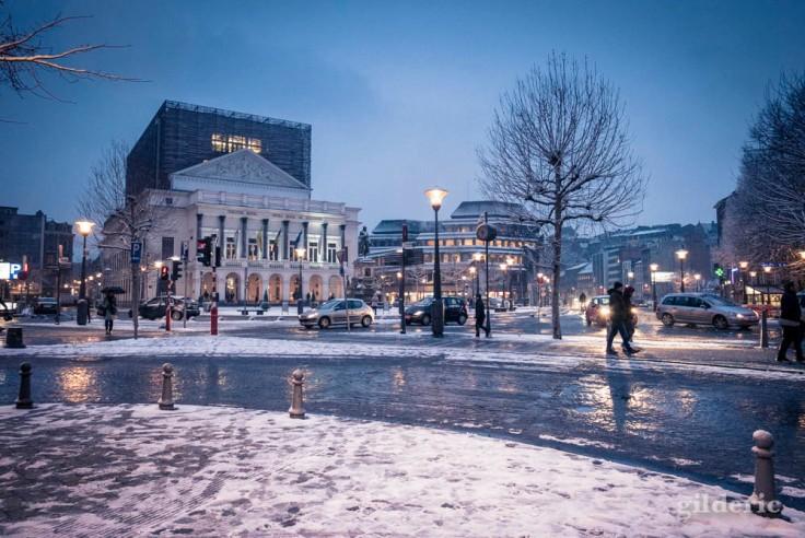 L'Opéra de Liège sous la neige