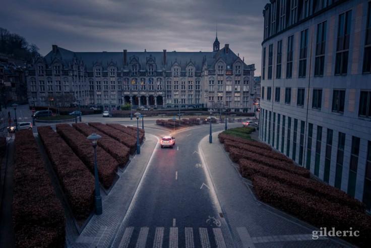 Vue sur le Palais des Princes-Evêques (Liège)