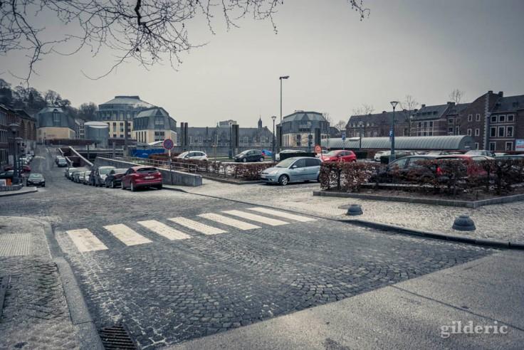 Un peu de neige sur le Cadran (Liège)