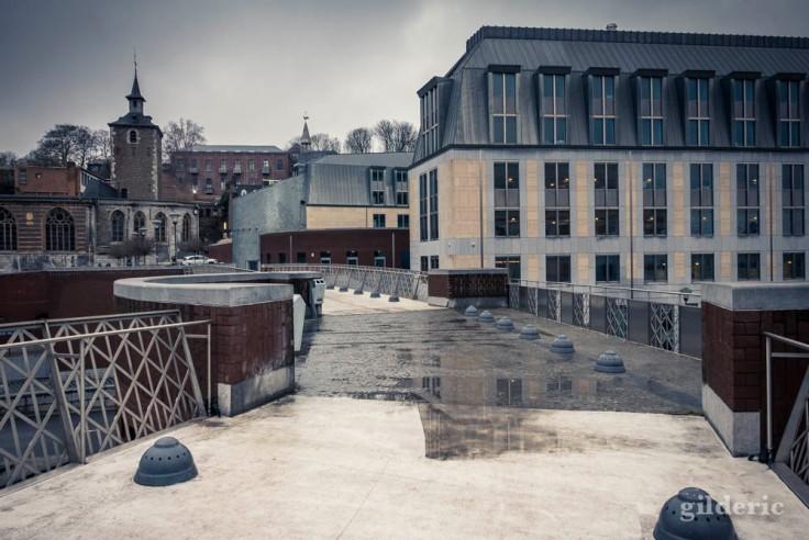 Reflets sur la Passerelle de la Principauté (Liège)