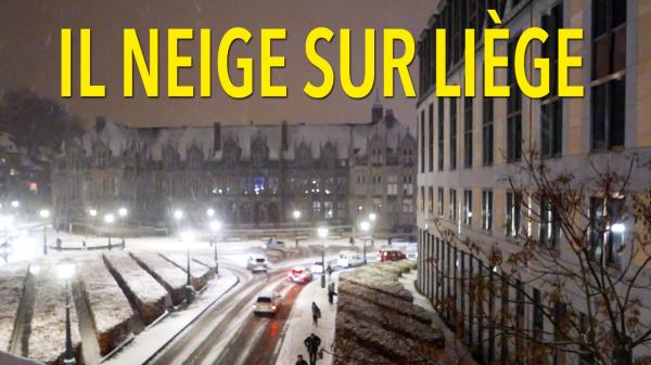 Il neige sur Liège : dans la tempête