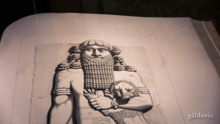 Expo Empreintes : Paul-Emile Motta, Monument de Ninive découvert par P.E. Botta, mesuré et dessiné par M.E. Flandin