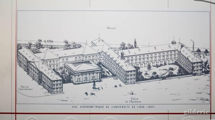Expo Empreintes : premiers bâtiments de l'Université de Liège