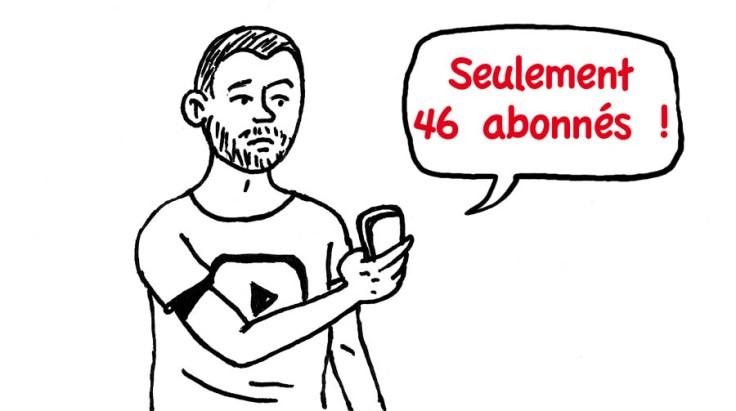 Consulter YouTube sur son téléphone (dessin)