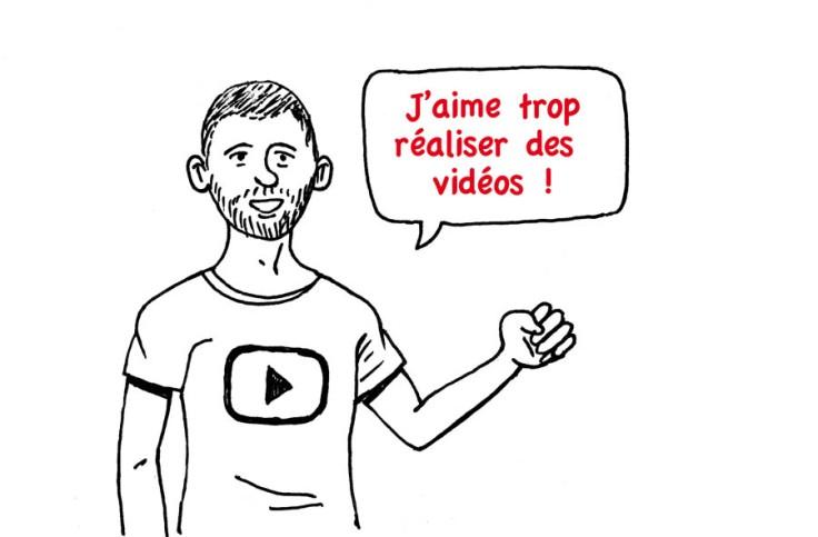 """""""J'aime réaliser des vidéos"""" (marketing YouTube, dessin)"""