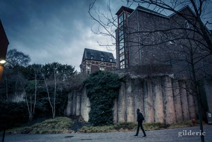 Matin pluvieux au centre de Liège