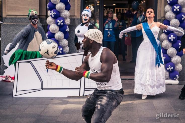 Street show sur le Meir à Anvers