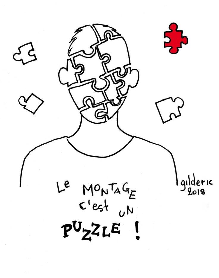 Réussir sa bande-annonce YouTube (dessin) : le montage, c'est un puzzle
