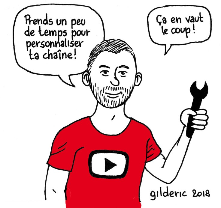 Réussir sa bande-annonce YouTube (dessin) : personnaliser sa chaîne