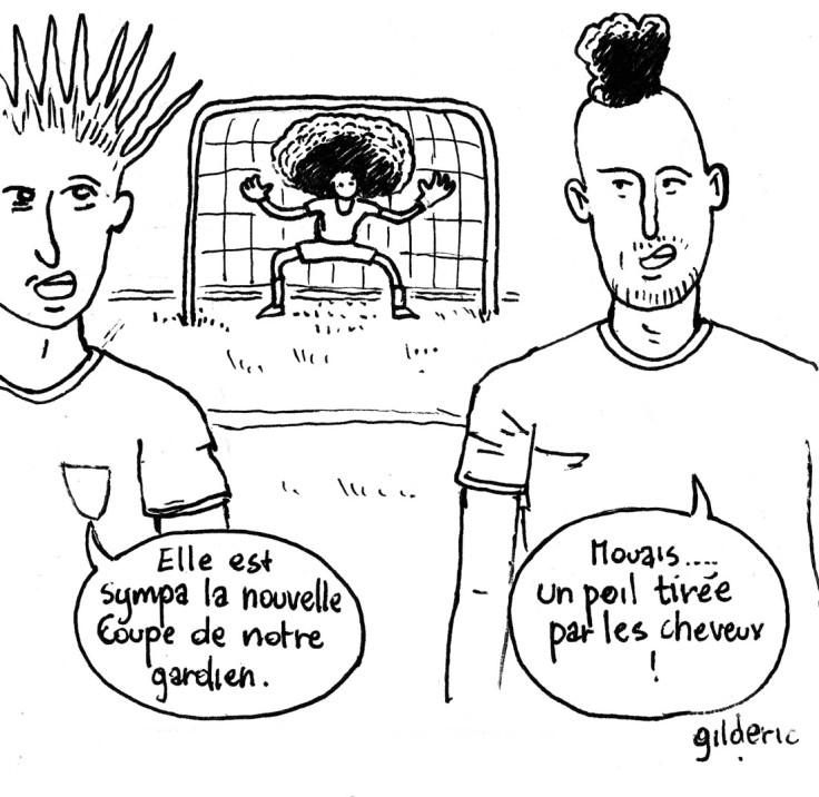 La coupe des footballeurs (dessin de Gilderic)