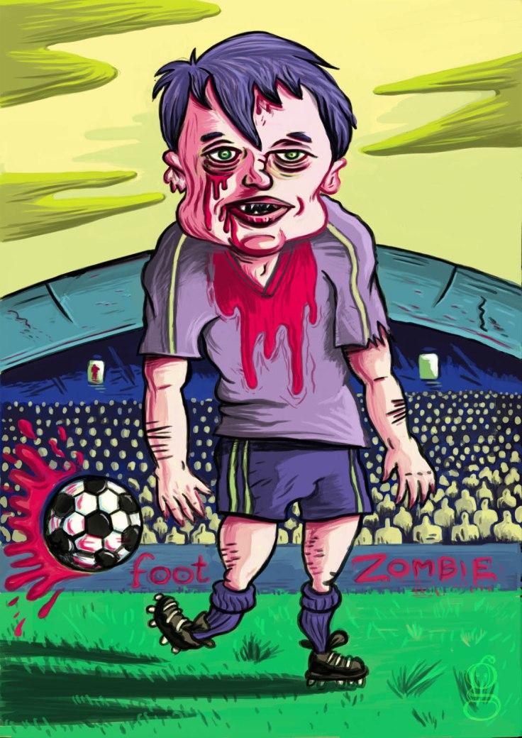 Foot Zombie (2010) - dessin de Gilderic