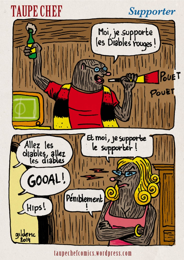 Taupe Chef : comment supporter le supporter de foot ? (strip BD)