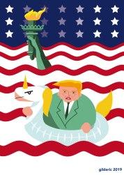 Donald Trump (versus le réchauffement climatique) -caricature