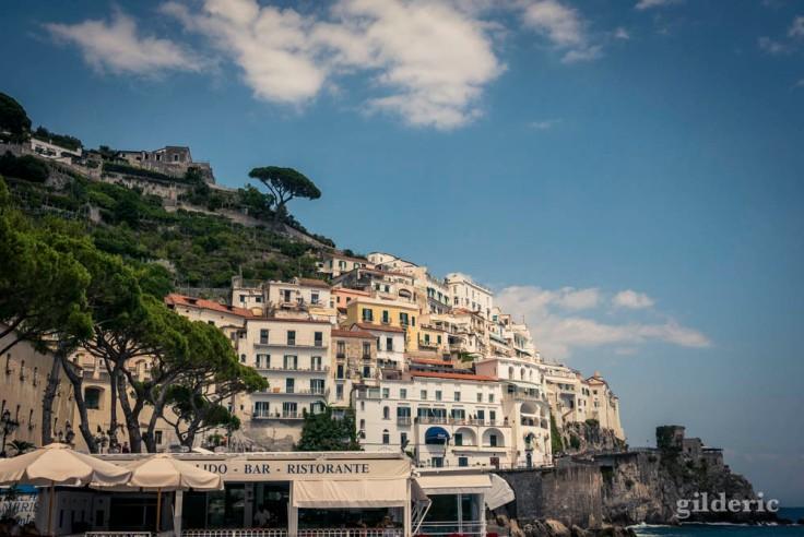 Vue partielle d'Amalfi (Italie)