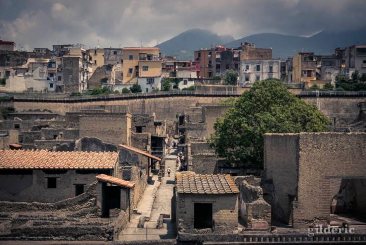 Vue d'ensemble d'Herculanum (Italie)