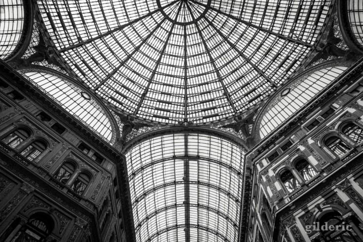La verrière de la Galerie Umberto I à Naples