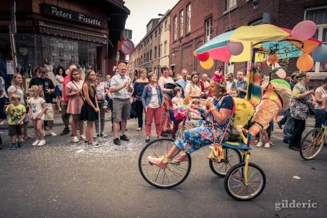 15 août 2018 en Outremeuse : clowns à vélo