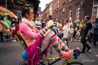 15 août 2018 en Outremeuse : clown à vélo