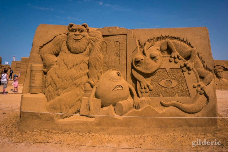 Disney Sand Magic 2018 à Ostende : Monster & Cie