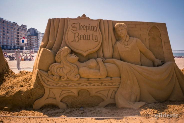 Disney Sand Magic 2018 à Ostende : Sleeping Beauty