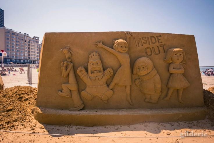 Disney Sand Magic 2018 à Ostende : Inside Out (sculpture de sable)