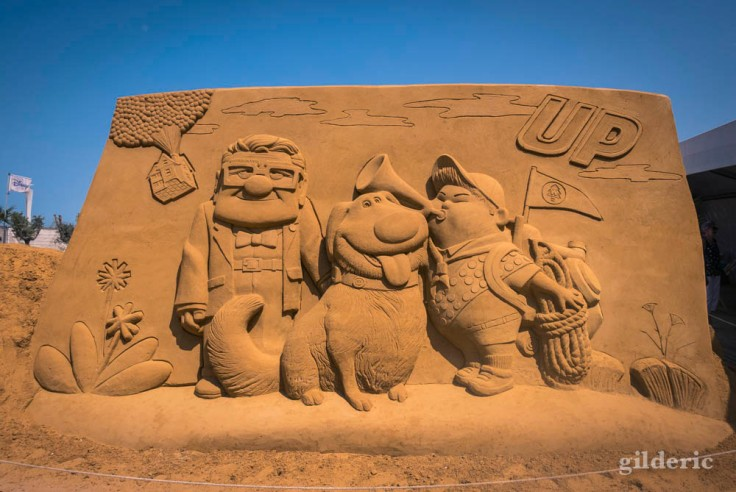 Disney Sand Magic 2018 à Ostende : Up (Là-haut)