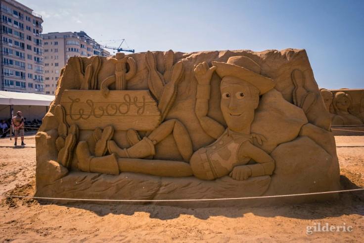 Disney Sand Magic 2018 à Ostende : Woody (sculpture de sable)