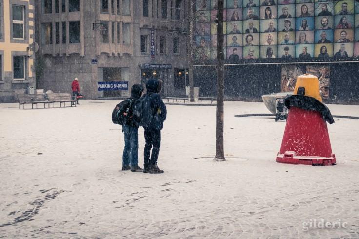 Il neige sur Liège (janvier 2019)