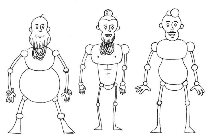 Goldie : recherche de personnages (corps et visages)