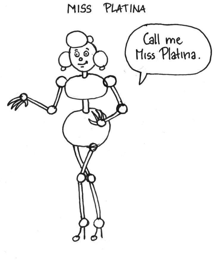 Miss Platina : recherche de personnage