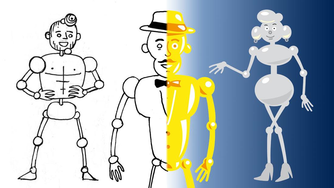 Dessiner les métaux précieux : création de personnages