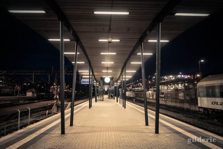 Gare de Luxembourg, le soir