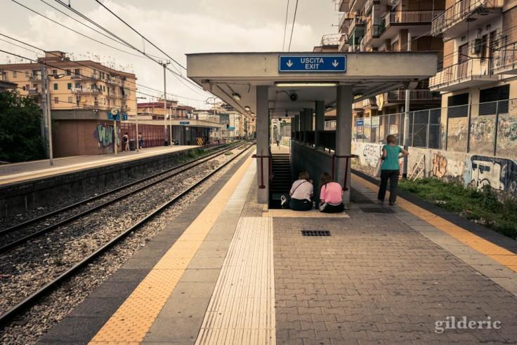 La gare de Herculanum (Italie)