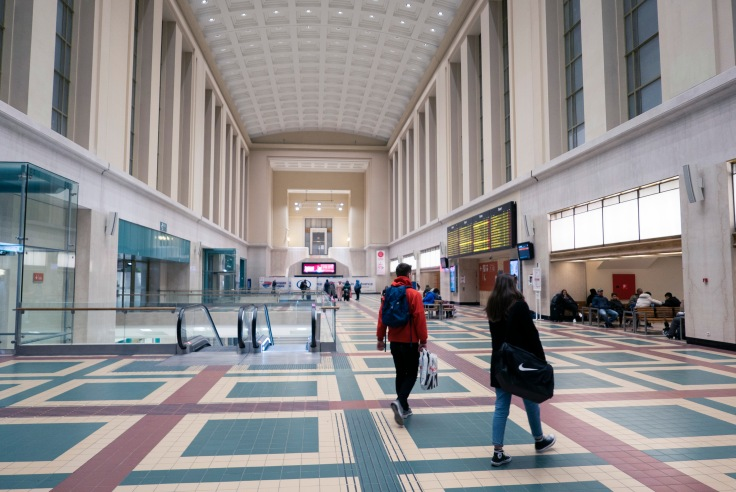 Le grand hall de la gare de Bruxelles-Nord