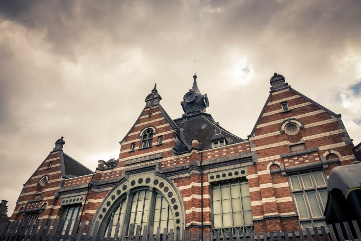 Façade de la gare de Schaerbeek (Train World)