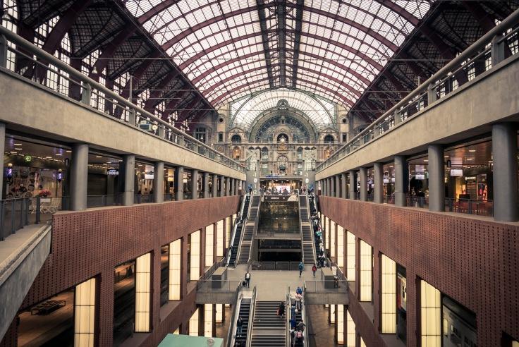 Intérieur de la gare d'Anvers-Central