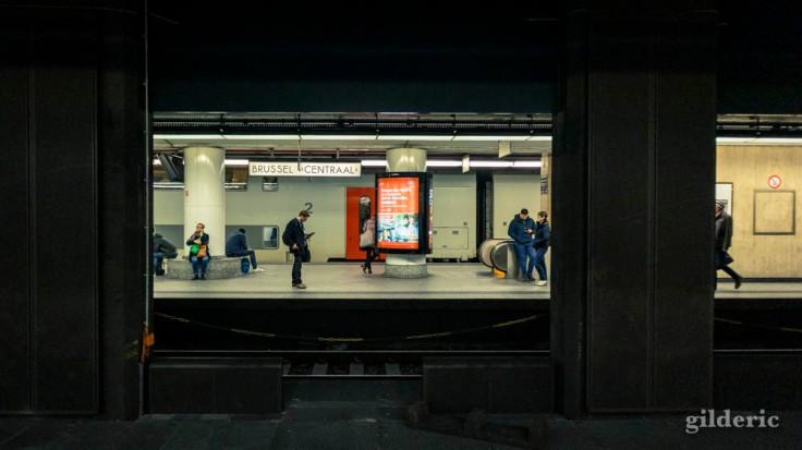 Les quais souterrains de la Gare de Bruxelles-Central
