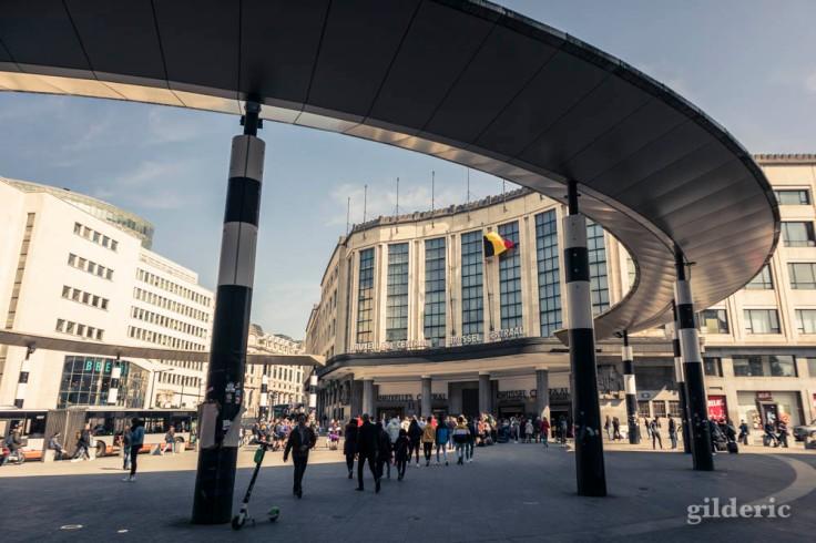 Extérieur de la gare de Bruxelles-Central