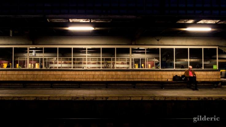 Bruxelles-Midi, de nuit