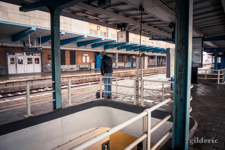 Gare de Mons : sur les quais