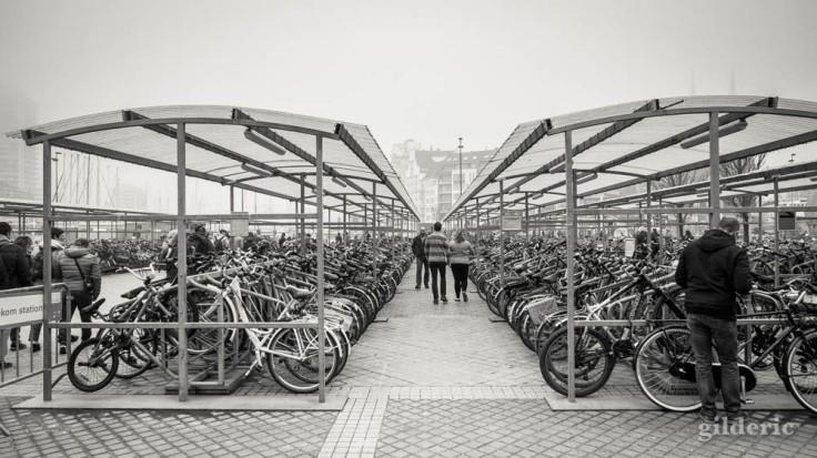 Parking à vélos, devant la gare d'Ostende
