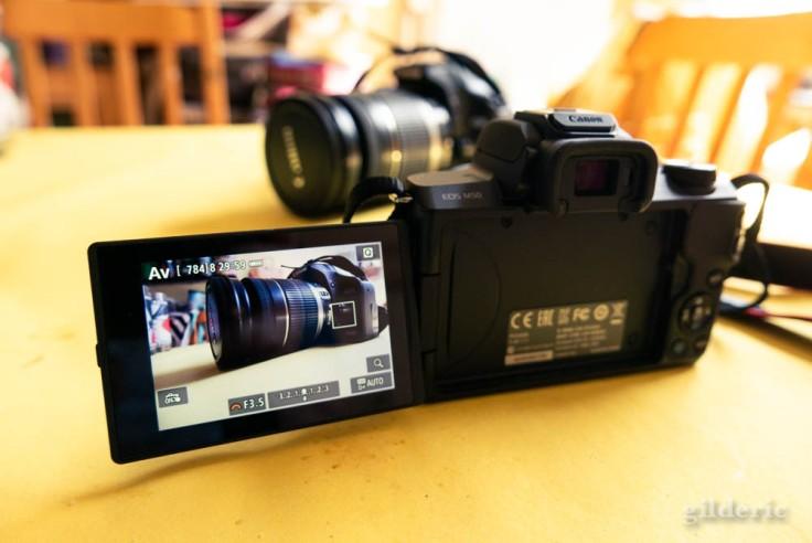 Le Canon EOS 500D (reflex) vu par l'EOS M50