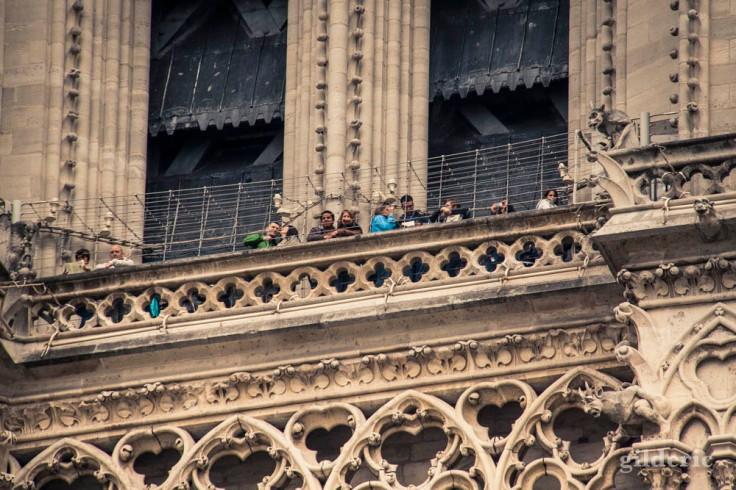Les touristes de Notre-Dame