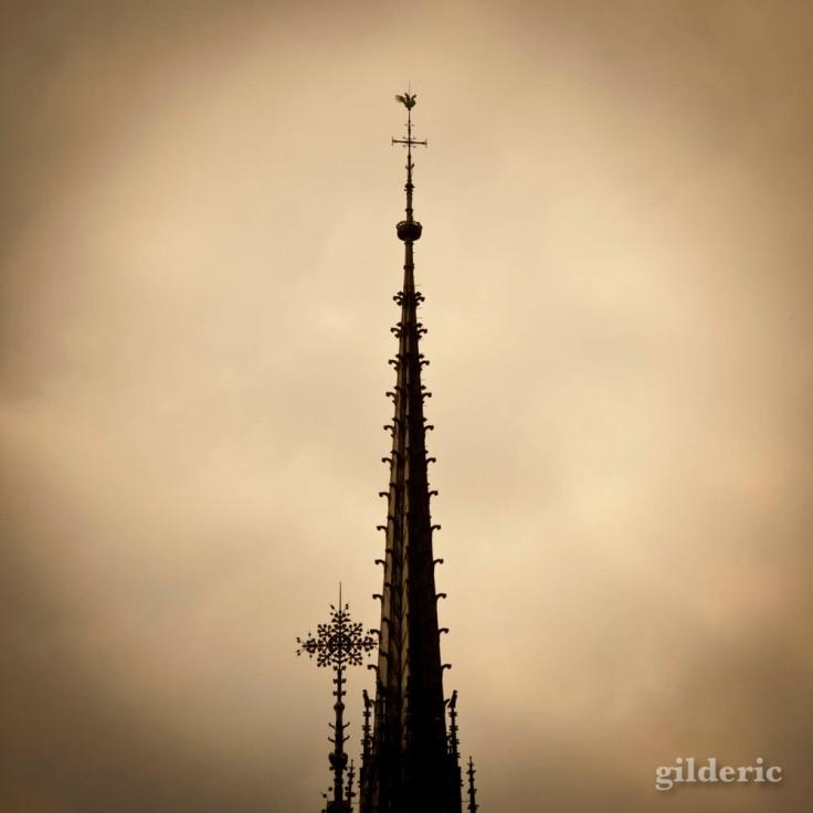 Détail de la flèche de Notre-Dame de Paris