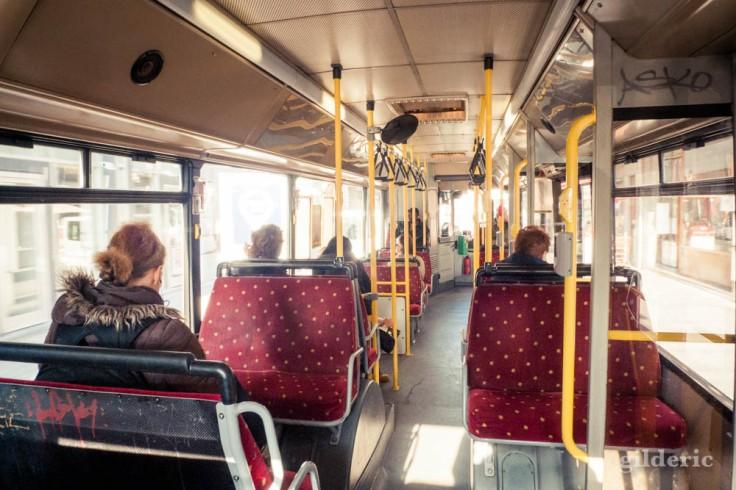 Dans le bus (TEC) à Liège