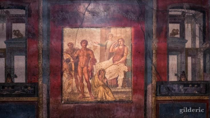Une des fresques de la Maison des Vettii à Pompéi