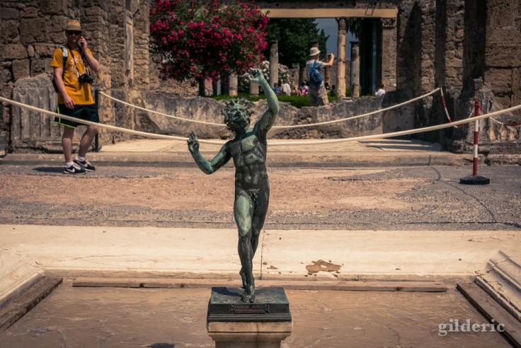 Le Faune dansant (dans la Maison du Faune) à Pompéi