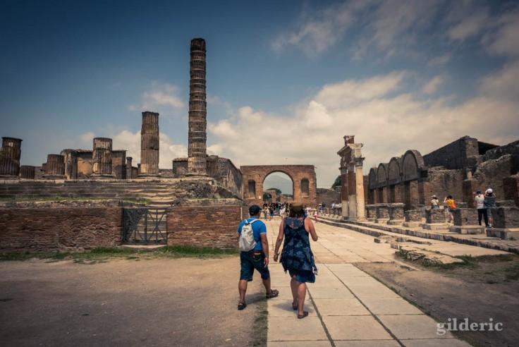 Sur le Forum de Pompéi