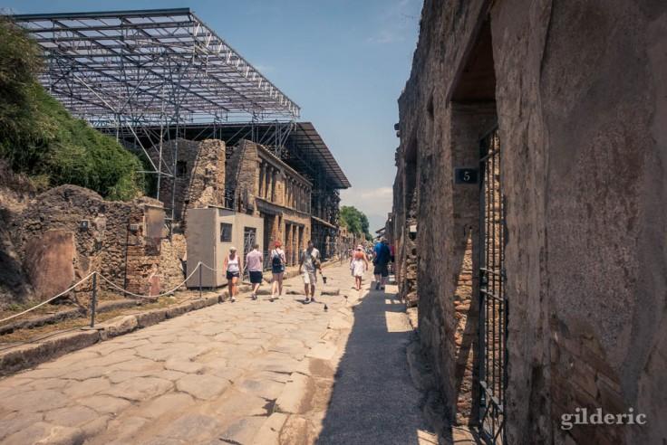 Via dell'Abbondanza, la rue commerçante de Pompéi
