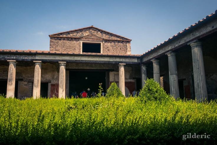 Casa del Menandro (cour intérieure) à Pompéi